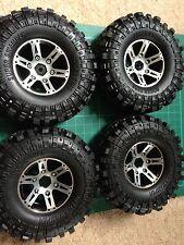 """Quatre Alliage Verrou De Talon Wheels & Roches Super Swamper pneus. 1.9"""" 110 mm Rock Crawler"""