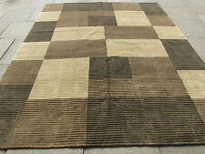 Hand Made Afghan Contemporary Gabbeh Wool Brown Modern Rug 286x200cm