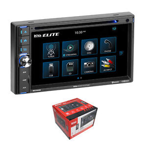 """BOSS 6.5"""" Touchscreen Bluetooth 2 DIN Radio with DVD/MP3/CD, AM/FM, AUX & Remote"""