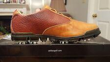 Adidas adiPure Motion Tour Mens Golf Shoes New 674879 Tan/Redwood 9.5M $290 Ret