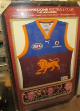 Brisbane Lions Triple Brownlow Winners signed jersey - framed