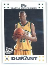 2007-08 TOPPS KEVIN DURANT # 2 WHITE VARIATION ROOKIE RC GSW WARRIORS TEXAS SP