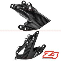 2009-2012 ZX-6R Side Mid Engine Cover Panel Guard Trim Fairing Cowl Carbon Fiber