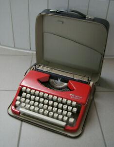 Reiseschreibmaschine Olympia Splendid 33 Schreibmaschine 50er 60er Jahre rot TOP