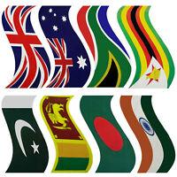 2 X Flag Stickers Cricket Bat Sticker Countries Flag Stickers