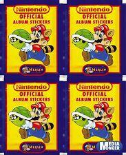 Super Mario Bros. Nintendo Oficial Álbum De Pegatinas 4 Paquete & 1992