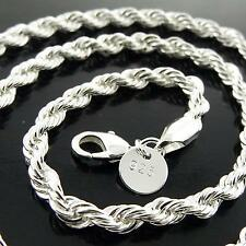 NECKLACE CHAIN GENUINE REAL 925 STERLING SILVER S/F LADIES ANTIQUE LINK DESIGN