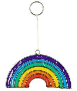 Small Colourful Rainbow Suncatcher, Bright Resin Window Decoration