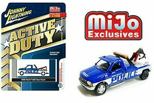 Johnny Lightning 1999 99 FORD F-450 POLICE TOW TRUCK -Blue MIJO EXCLUSIVE 1/2400