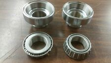 CHROME SET OF HEAD CUP W/ RACE & BEARING FOR 49-86 FL FX HARLEY & SOFTAIL 84-88