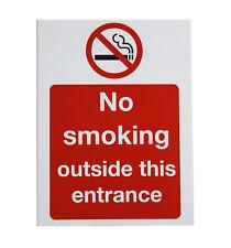 """No Smoking outside this entrance"" A5 sticker (24-14)"