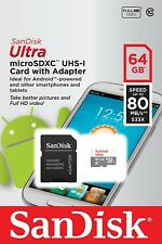 Sandisk Ultra 64GB MicroSDXC MicroSD Micro SD C10 w/ SD Adapter - US Seller!