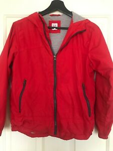GAP BOYS LIGHT HOODED JACKET SIZE XL RED ZIPPERED FRONT