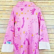 Snuggie For Kids Pink Princess Blanket With Sleeves Crown Heart Stars Girl Robe