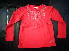 Tee-shirt à manches longues rouge 8 ans La Compagnie des PETITS TBE