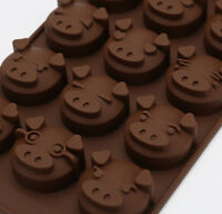 15 Pig Shape Chocolate Silicone Mold Unique Icy Baking Fondant Sugar Mould B2Z