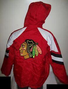 CHICAGO BLACK HAWKS STARTER PRO LINE Hooded Parka Jacket  S, M, L XL 2X