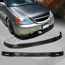 For 2001-2003 Honda Civic MUG Style GEN Polyurethane PU Front Lower Bumper Lip