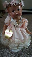 Effanbee Patsy Doll Pink Frilly Dress Durable Doll Headband