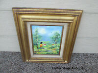 COL YS:    Oil on Porcelain In Wood Picture frame MOSES ?