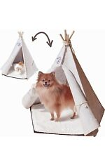 New listing Indoor Pet Teepee Dog And Cat Portable Bed Canvas Tent For Play And Pets Nap