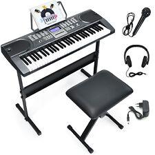 61 Leuchtentasten Tasten Keyboard E-Piano Lern Klavier Musikinstrument Set