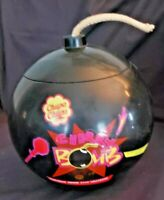 Vtg. 1995 Chupa Chups CHERRY BOMB candy container-complete w/lid & wick