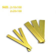 20 Pcs  2mmThick 10mm Wide 100mm Length Brass Strips Use for Groove Processing