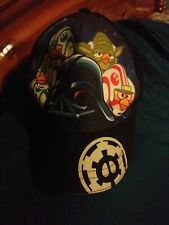 Angry Birds Star Wars Cap Black Bright Colors Adult Size Adjustable