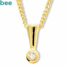 Diamond White Natural Stone Fine Necklaces & Pendants