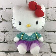 "Hello Kitty Plush 9"" Sitting Stuffed Animal In Hoody And Tutu Skirt By Sanrio"