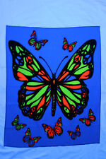 "Blacklight reactive tapestry // fabric poster // 23"" x 28"" // Butterfly Peace"