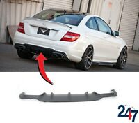 NEW MERCEDES BENZ W204 C-CLASS AMG 2011 - 2014 REAR BUMPER DIFFUSER BLACK