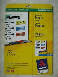 Avery Magnetic Signs 5 page pack 210x297mm inkjet printable magnet paper A4 matt
