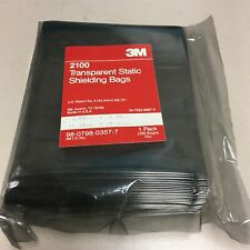 "New 3M 2100 4.5"" X 6"" Transparent Static Shielding Bags 100 Bag Pack Q6"
