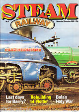Steam Railway Magazine Issue No.# 9 Nine - NOV-DEC 1980 VERYGOOD Condition