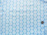 Mini long stem roses blue on blue fabric 1 metre x 112cm 100/% Cotton F913-5