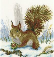 RTO Counted Cross Stitch Kit  -  Winter Morning Squirrel