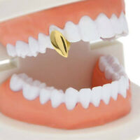 Single Tooth Fang Grillz Silver/14K Gold Plated Grill Cap Vampire Canine Dental