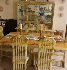 Dining room set 6 chairs gently used