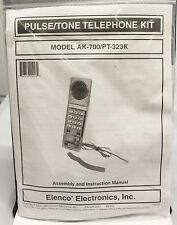 Elenco Electronics AK-700/PT-323K Pulse Tone Telephone Kit