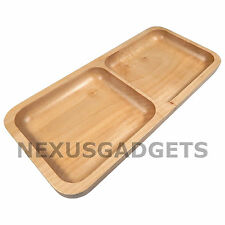 Arch Solid Maple Wood Tray 12.5 Inch Rectangular Wooden, Rounded Corners, SMALL