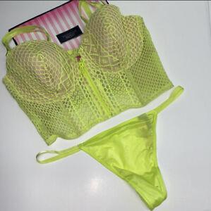 New Victoria Secret very sexy lightly lined bra 36DD & Panty Medium