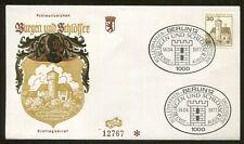 1977 Berlin Germany - Castles & Palaces - Burg Ludwigstein Im Werratal Fdc