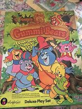 Vintage 1985 Disney's Gummi Bears Deluxe Colorforms Play Set Unused in Box