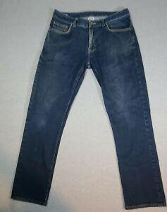 Patagonia Jeans Size 33x30 Navy Blue Slim Fit Organic Cotton. READ DESCRIPTION