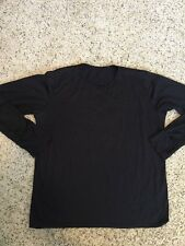 Mens Polartec Black Base layer Shell Pullover   Size Large Kd6