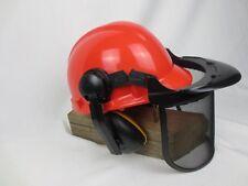 Forst-Schutzhelm  Kopfschutz Waldarbeiter Helm Forstschutzhelm