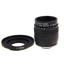 Fujian 35mm F1.7 CCTV Movie lens +C Mount to Canon EOS M M2 M3 Mirrorless Camera