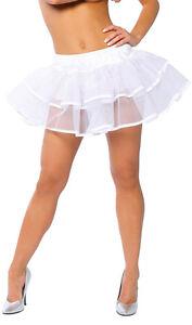 Mesh Double Layer Petticoat Tutu Colored Trim Layered Tier Costume Roma 1600